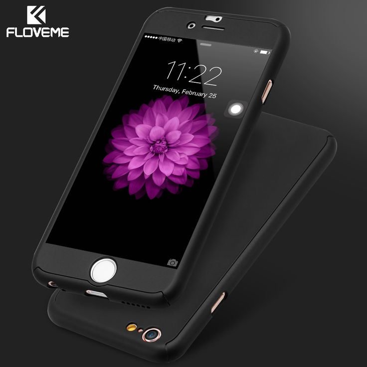 FLOVEME Full Coverage Of 360 Degree Case Cover For Apple iPhone 7 Plus 6 6S Plus Accessories For iPhone 7 6 Case With Glass Film