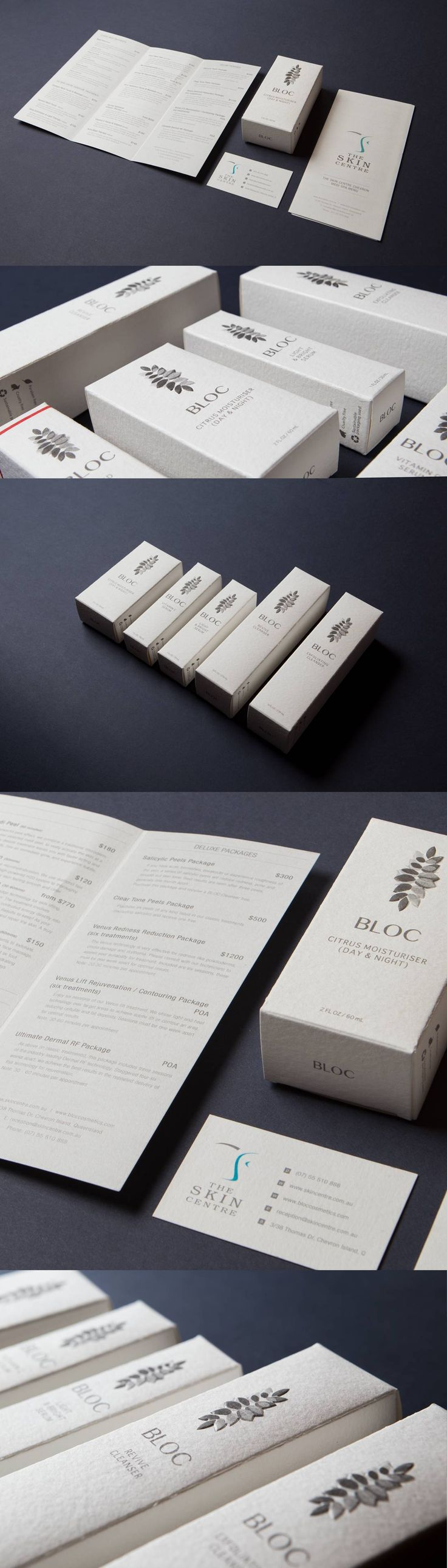 Bloc Cosmetics & The Skin Centre - Packaging Design - KW Doggets Wild Stock - Embossed - By The Graphic Design Company - Gold Coast - Australia