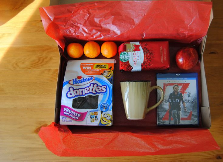 christmas box - for the parents too. A movie, coffee mug, breakfast treat, maybe slippers too.