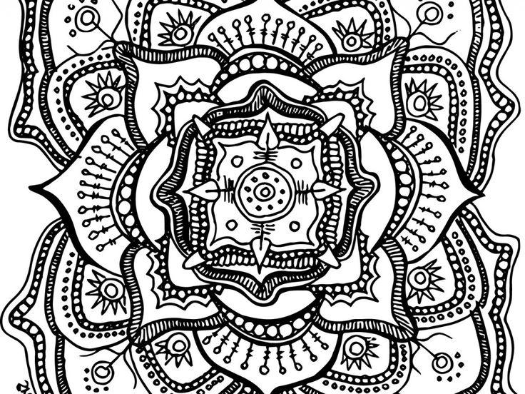 Mejores 87 imágenes de Mandala Coloring Pages en Pinterest ...