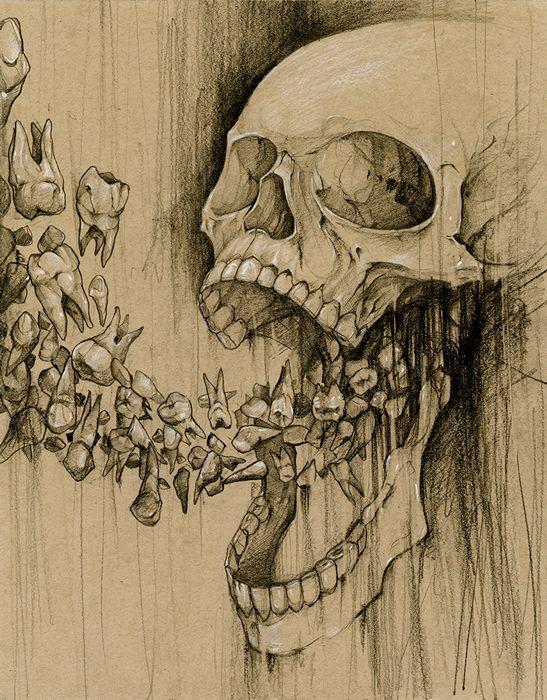 Image result for weird skull art