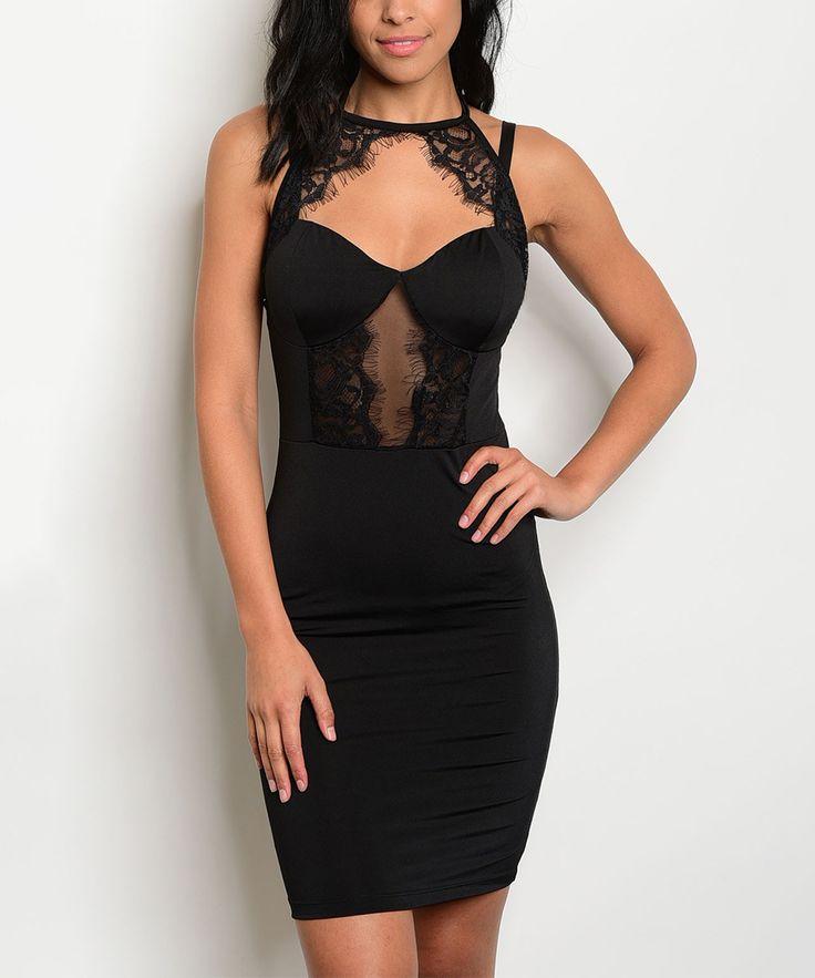 Bodycon dress black lace accent under arm vendors wholesale jordan
