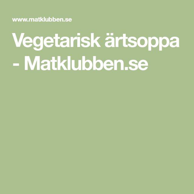 Vegetarisk ärtsoppa - Matklubben.se
