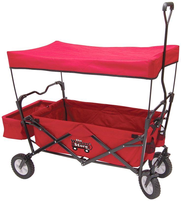 Folding Red Wagon