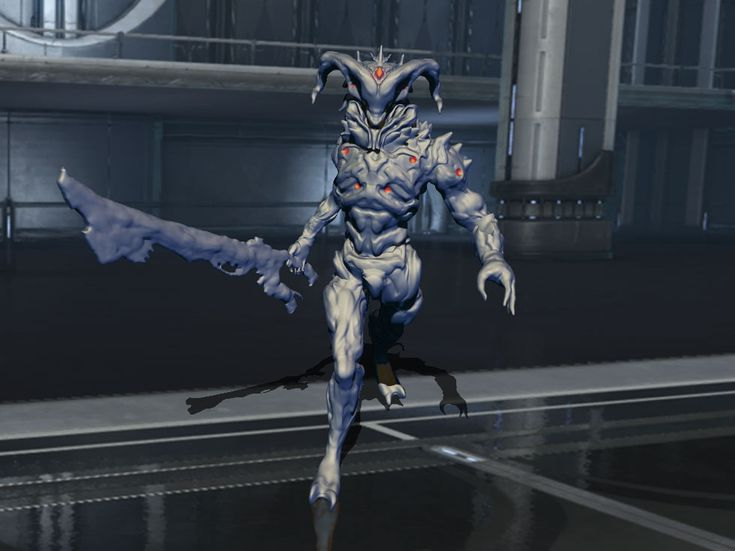 This is me testing how Baphomet would look if he came at me in Warframe.