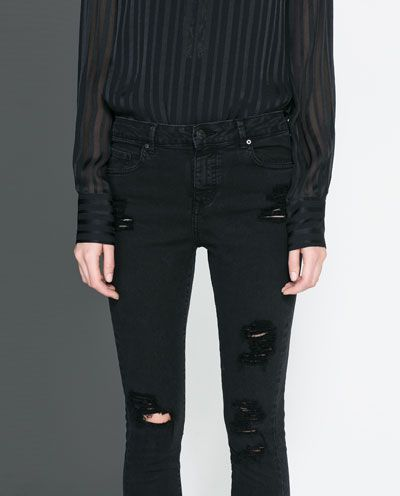 Image 7 of FIVE-POCKET TROUSERS from Zara