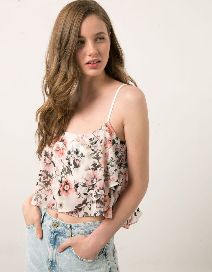 Bershka floral print tankini top - Woman Favourites - Bershka United Kingdom