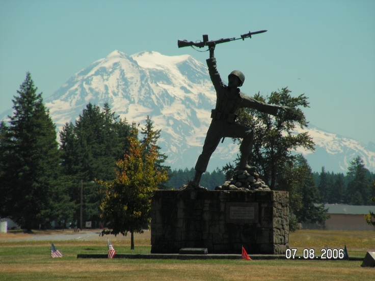 view of Mt Rainier from Ft Lewis. I saw this everyday when I was stationed there. Beautiful!!