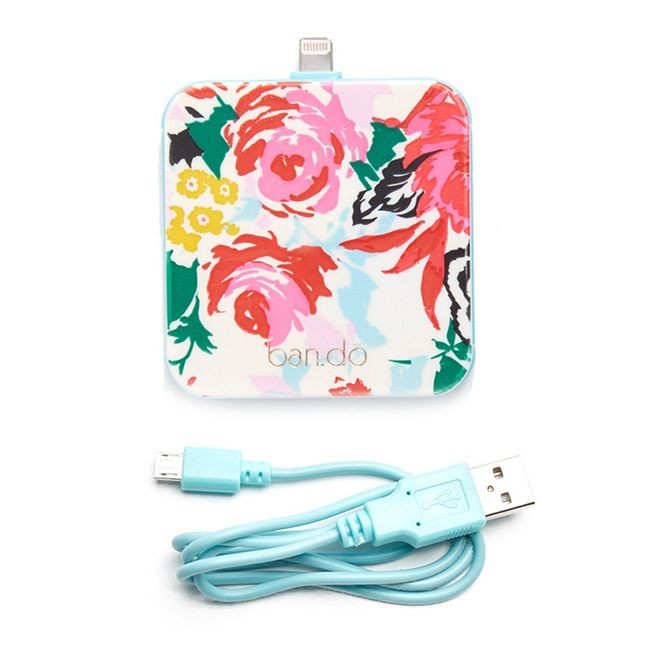 Help your phone stay alive on-the-go with this floral mobile charger.