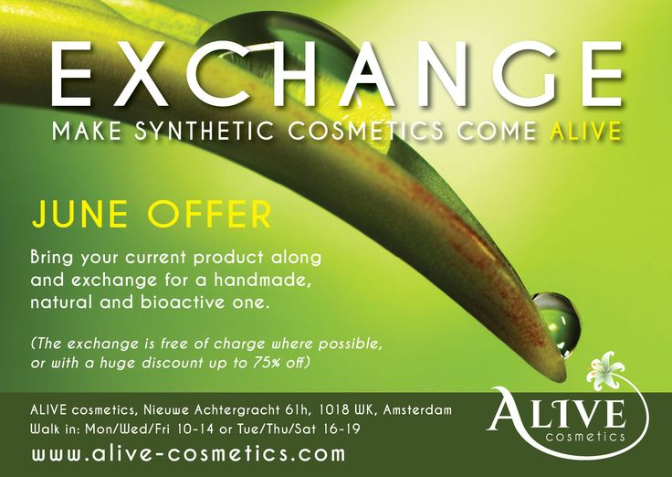 Adverts for A-Live Cosmetics