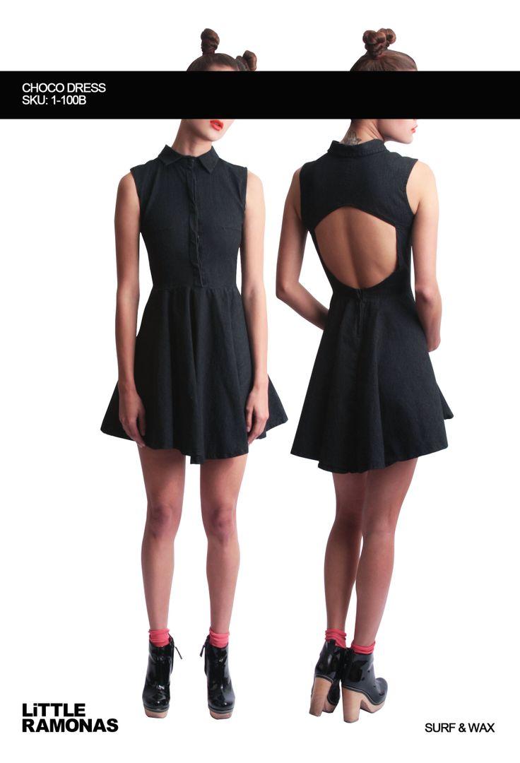 Choco Black Denim  Dress www.littleramonas.com