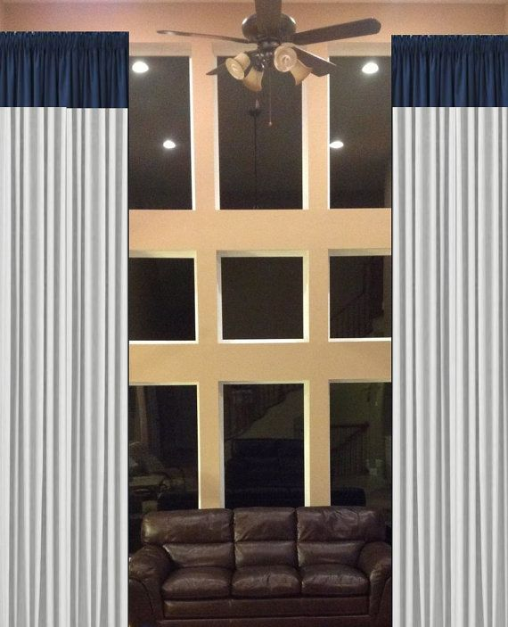 Store wide sale color blocked drapes 2 story extra by for Long windows for sale