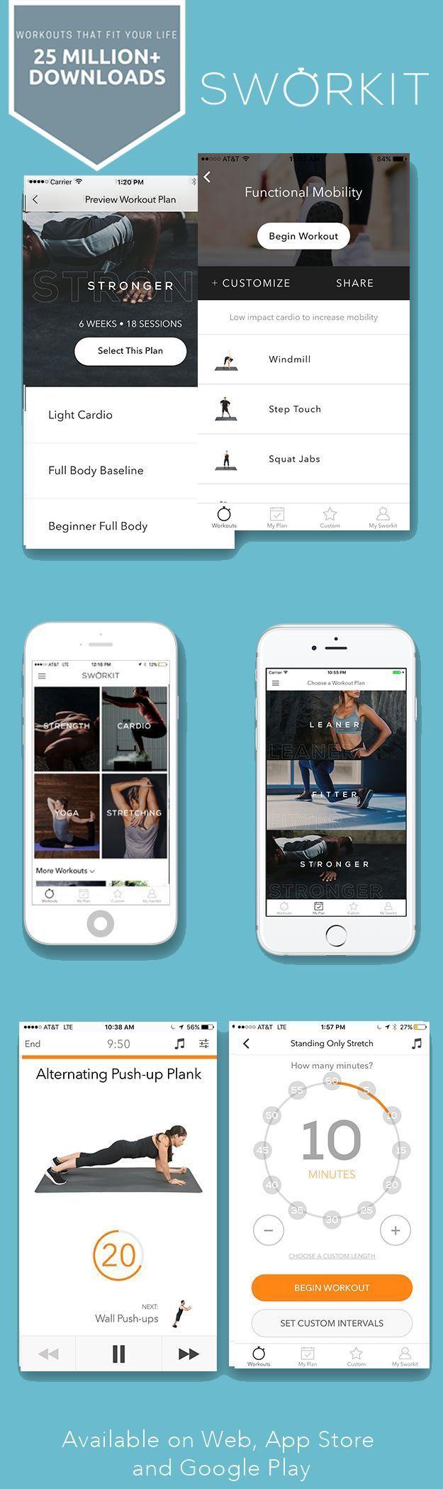 #Apps #Circuit #eingestellt #Fitness #Hause #HIIT