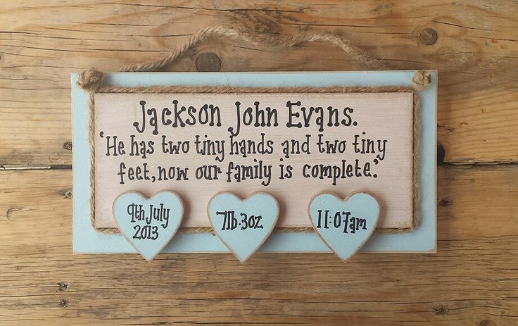 Baby boy plaque gift