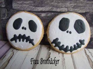 Frau Brotbäcker: Geistergesichter Kekse