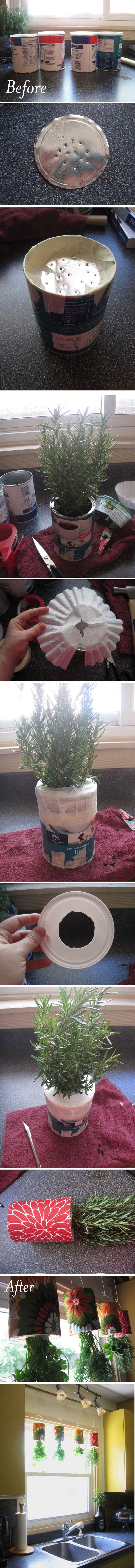 Diy upside down herb garden