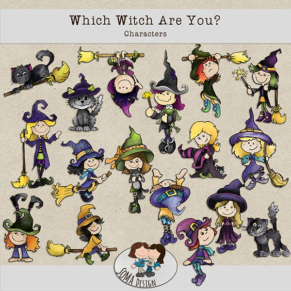 SoMa Design: Which Witch Are You? - Characters