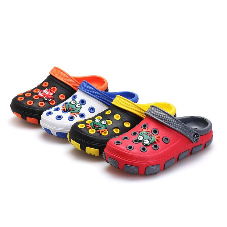 2016 toddler summer children's beach sandals 3D cartoon boys girls leisure clogs slippers cheap casual kids mules slides shoes alishoppbrasil