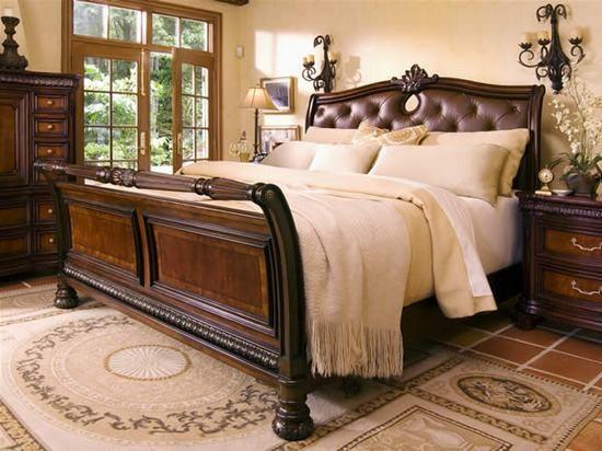 Villa Veneto Sleigh Bed Queen Size Bed By Fairmont Designs Luxury Bedroom Furniture Bedroom