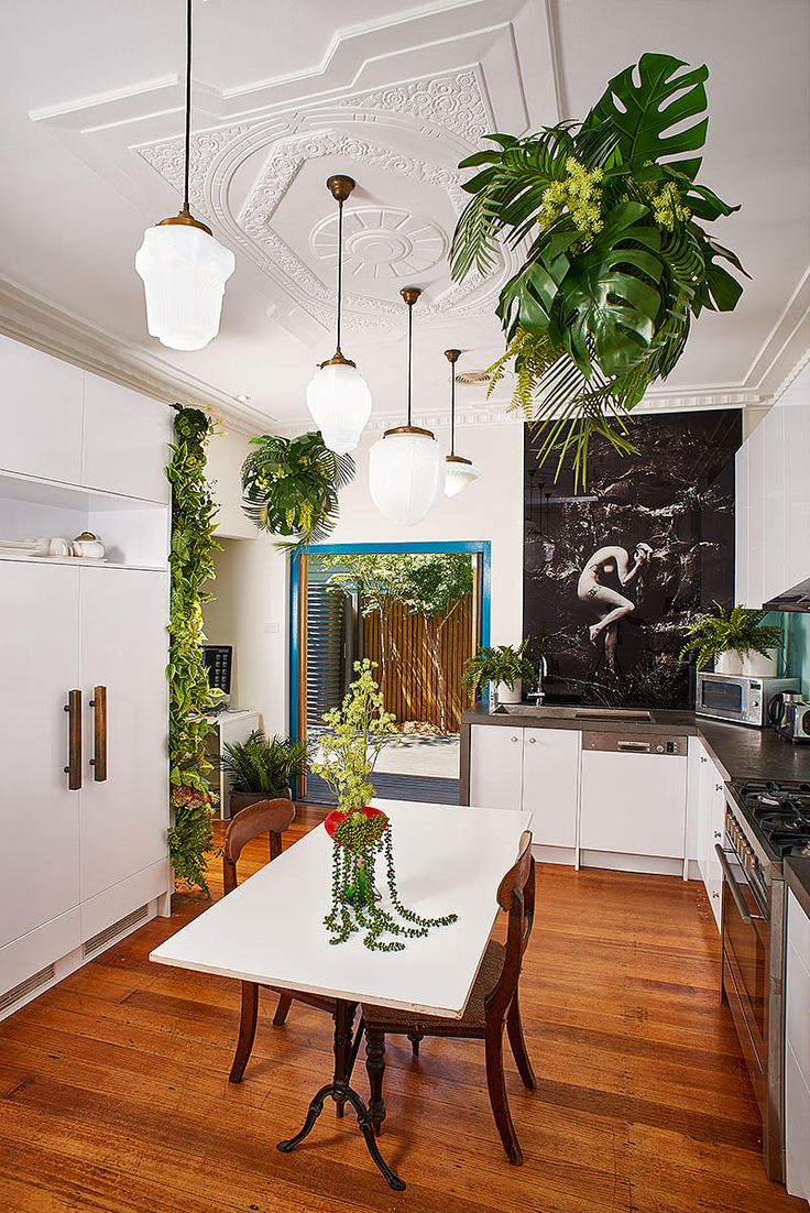 Artificial Vertical And Suspended Gardens By Garden Beet. With A Fine Art  Nude Splashback By