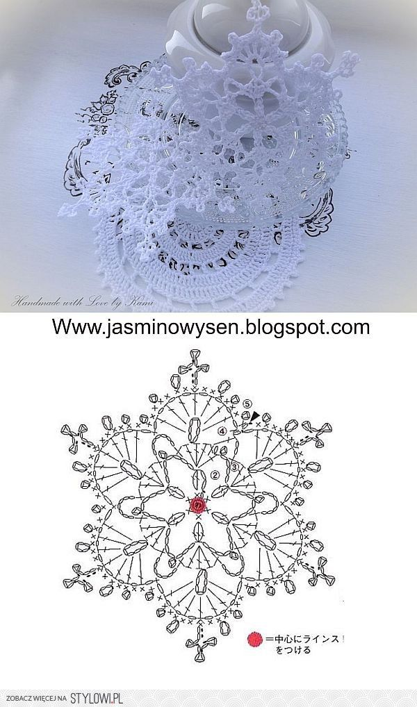 Crochet Snowflake with chart