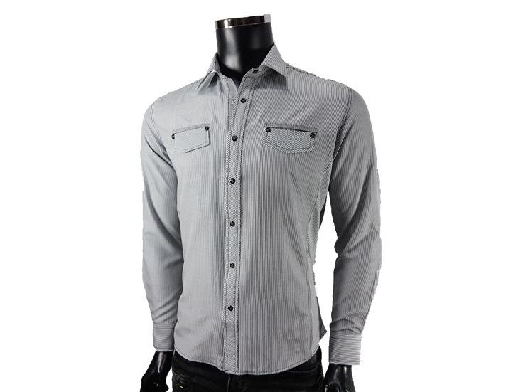 Koszula w paski - - Koszule męskie - Awii, Odzież męska, Ubrania męskie, Dla mężczyzn, Sklep internetowy