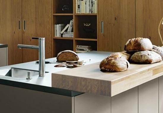 Make your sandwiches in style with this wooden worktop from Next125 | Next125 Kitchens ! Next 125 Kitchens