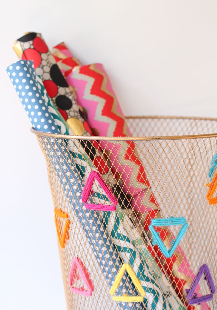 Embroidered Paper Bin - The Crafted Life
