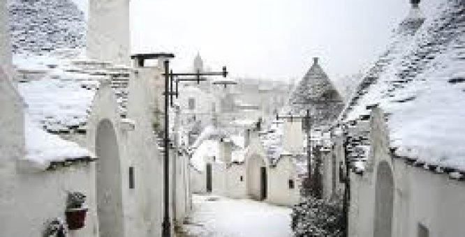 #presepe #snow #trulli #alberobello