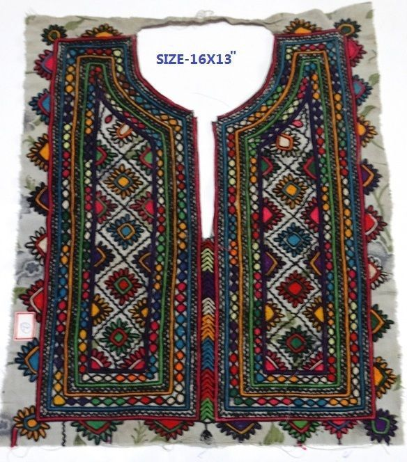 Bilochi Handmade Banjara Yoke Neck yoke Applique work Yoke Gypsy vintage yokes #Handmade