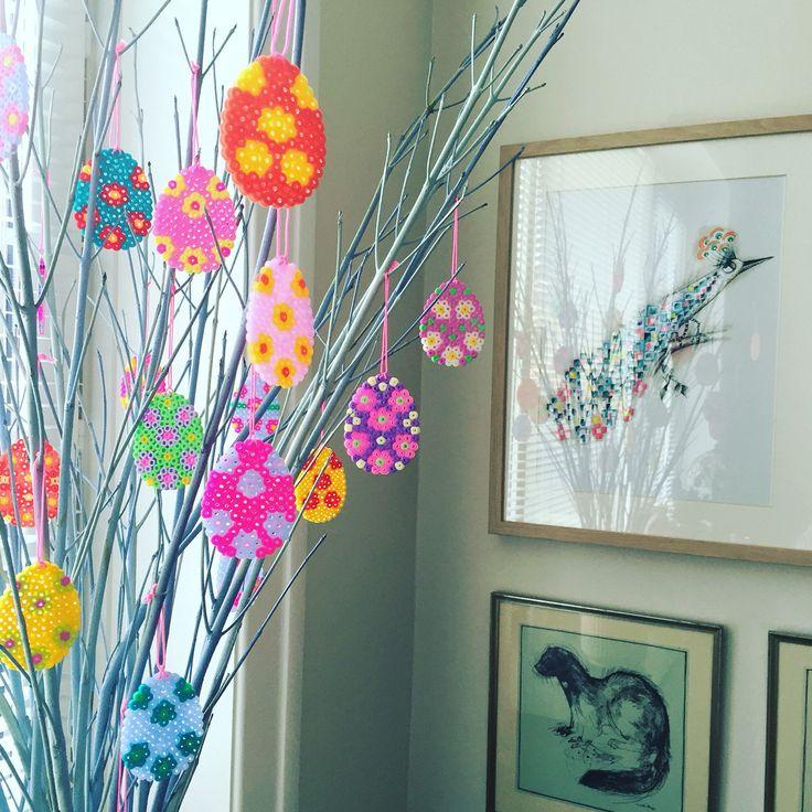 Påske - påskeæg - Easter - Hama - hamabeads - hamaperler