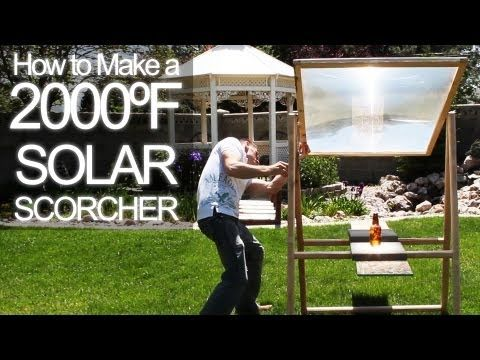 Grant Thompson likes to take things apart to see how they work. Watch how he turned an old rear-projection television into a solar death ray powerful enough to burn concrete.