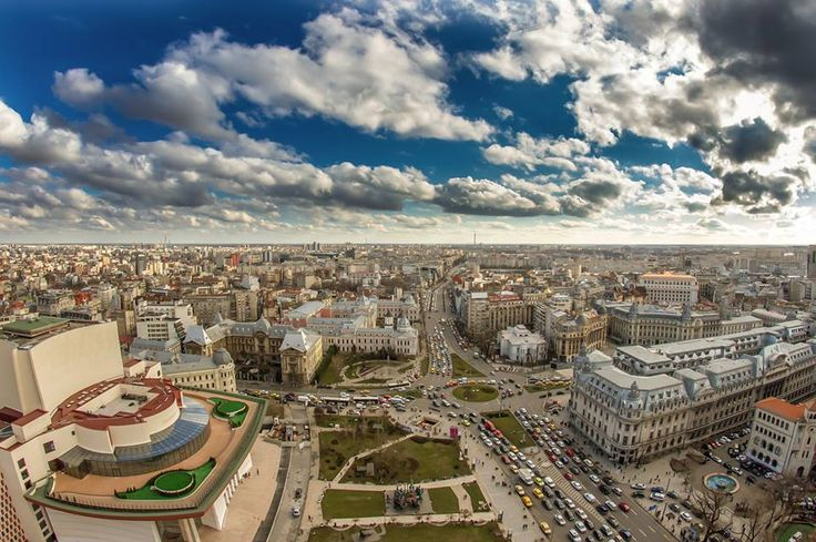 Piata Universitatii, vedere de pe InterContinental Bucharest, 2015