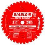 Diablo 7-1/4 in. x 38-Tooth Steel Demon Ferrous Metal Cutting Saw Blade