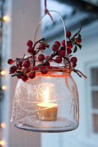 #Marsala #Christmas #DIY #Lantern #Candle | Source: FamilyHoliday.net