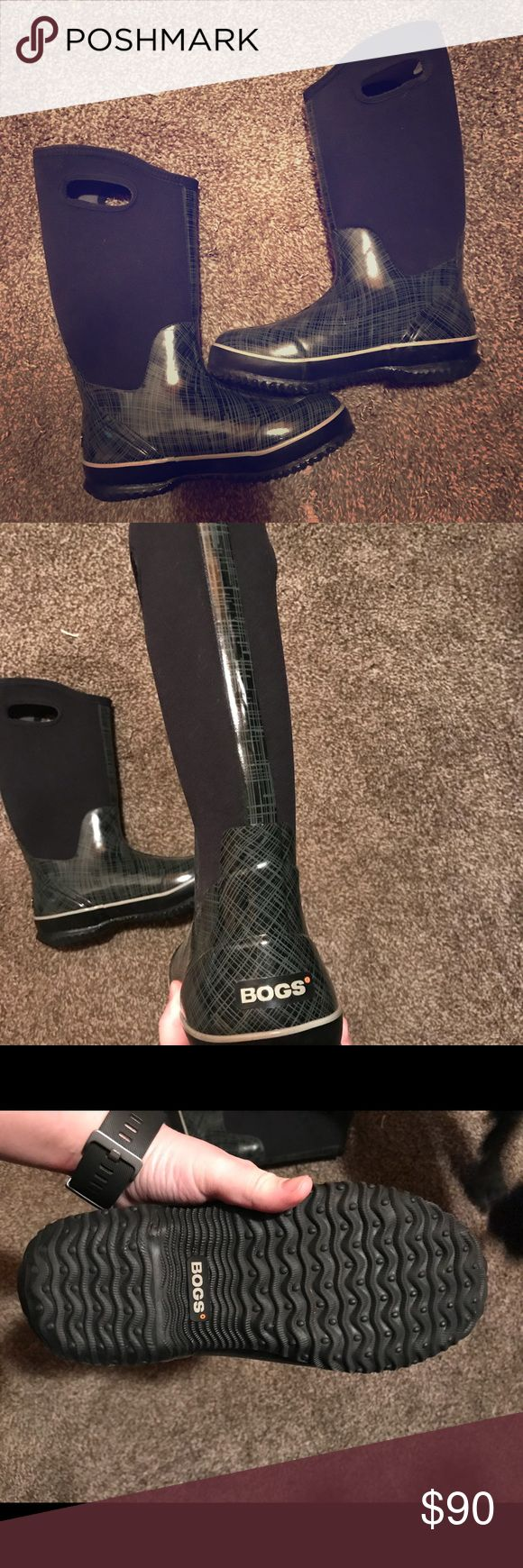 BOGS INSULATED BOOTS! ** perfect condition! Worn 1 time for a Colorado ski trip! PERFECT CONDITION   • NO flaws  •NO dirt  • NO SMELLS   100% perfect boots for cold weather, ice, snow, or rain!  * please NO LOW offers! Bogs Shoes Winter & Rain Boots