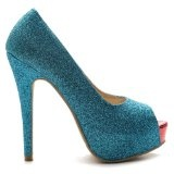 Ollio Womens Pumps Stiletto Classic High Heels Platforms Glitter Multi Colored Shoes
