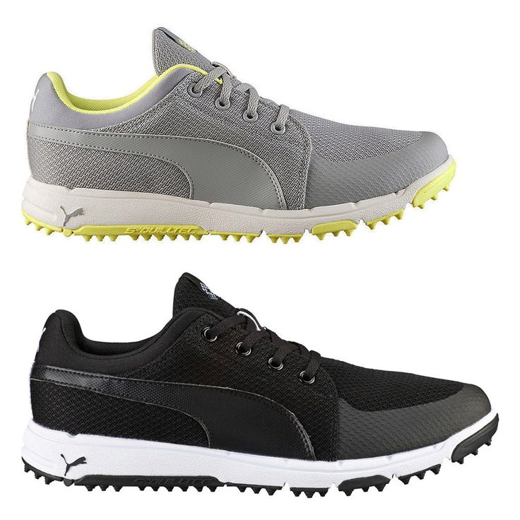 NEW Mens Puma Grip Sport Spikeless Golf Shoes Black / White  Choose Your Size!
