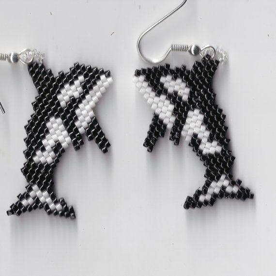 Killer Whale Earrings by Edithscustomcrafts on Etsy, $14.99