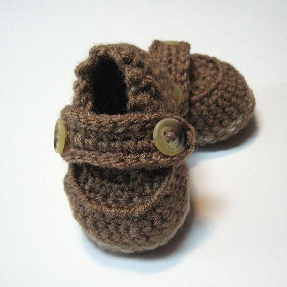 Crochet Baby Boy Shoes.