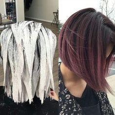 """""""* Hair-Painting for Purple ;) ... by @marycampbell_vhs .... Balayage: w/ @olaplex #olaplex Color: w/ #tigicopyrightcolour @tigicreativeteam #btcpics"""""""