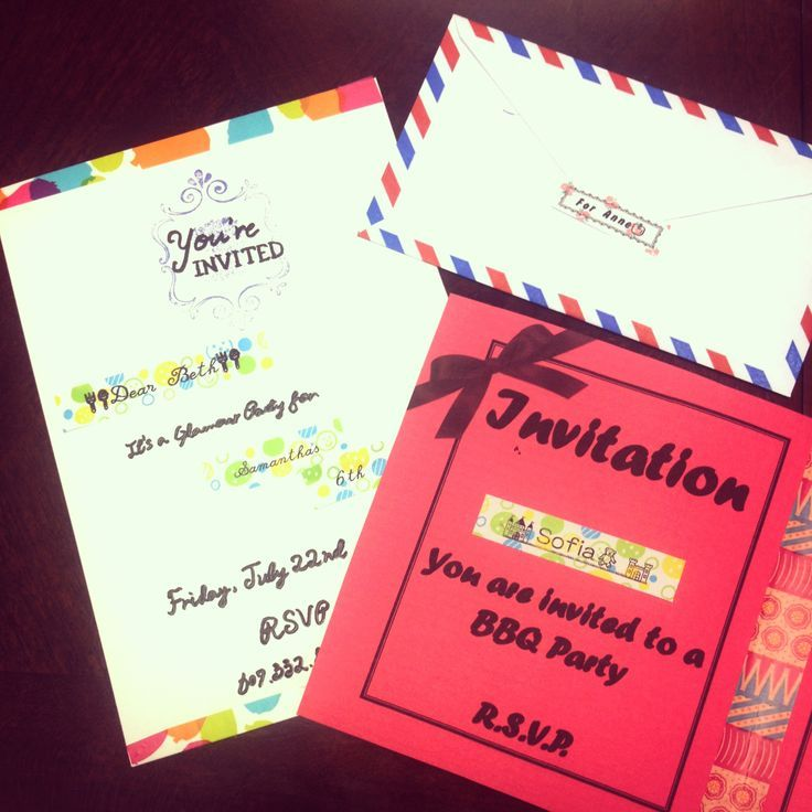 how to start my own invitation printing business%0A You can create special invitations with WASHI tape label  Find this Pin and  more on Card Making