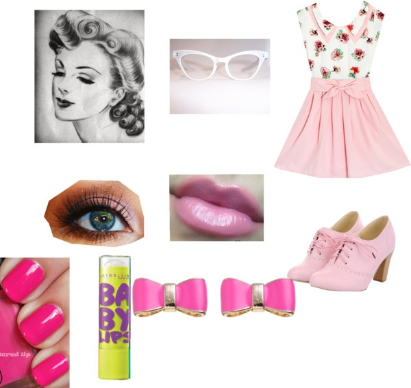 """""""50's look"""" by dabrianav ❤ liked on Polyvore"""