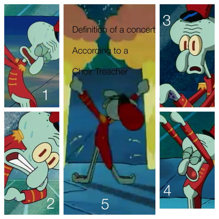 SpongeBob squidward choir humor