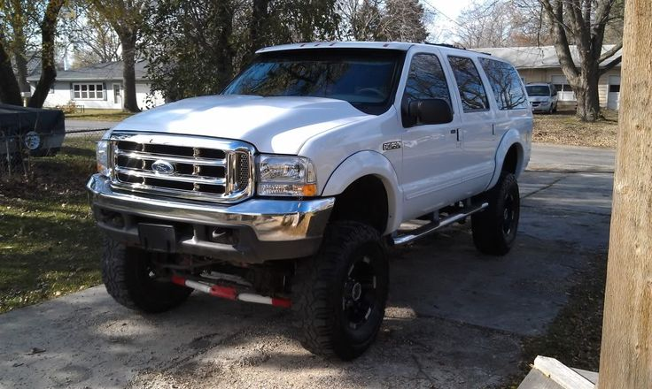 2000 Ford Excursion 7.3 Diesel White Lifted - Pirate4x4.Com : 4x4 ...