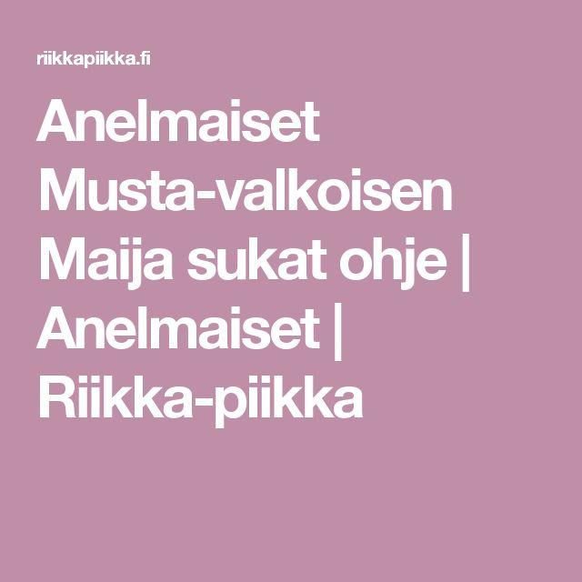 Anelmaiset Musta-valkoisen Maija sukat ohje | Anelmaiset | Riikka-piikka