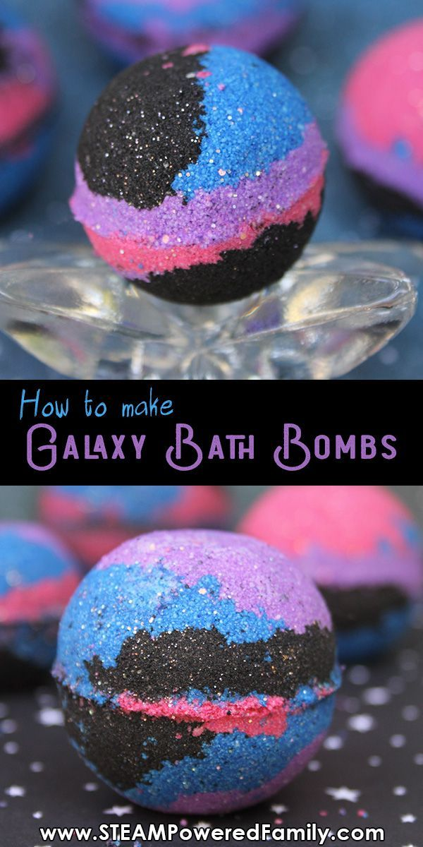 Easy Galaxy Bath Bomb Recipe And Chemistry Lesson For