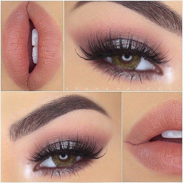 """House of Lashes® on Instagram: """"We love this soft romantic look by... ❤ liked on Polyvore featuring beauty products, makeup, eye makeup, eyes, beauty, lips and make"""