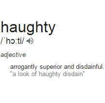 Haughty Meaning - YouTube