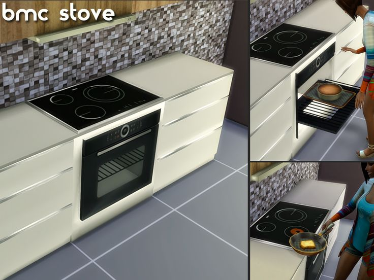 When I created this stove I thought I wanted it to be integrated on the kitchen, not appart of it, just like EA's stoves. Found in TSR Category 'Sims 4 Large Appliances'